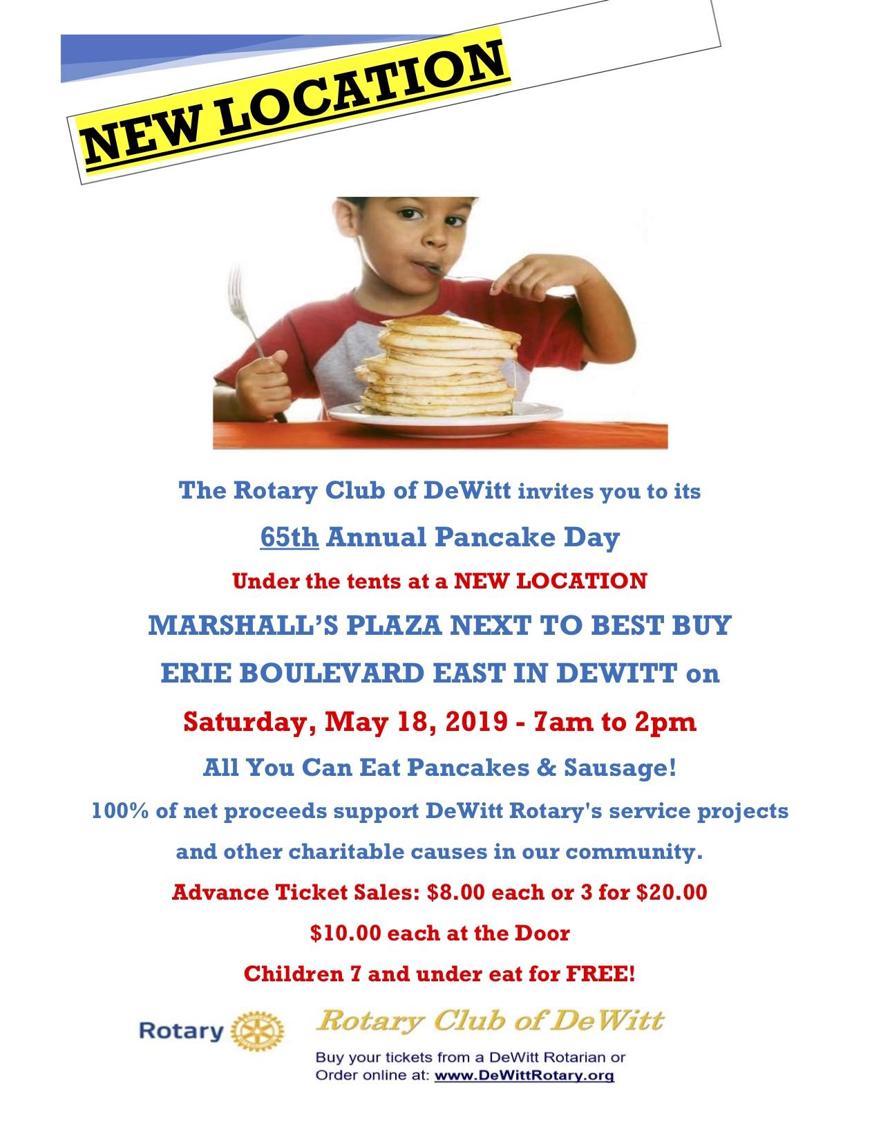 2019 Dewitt Rotary Pancake Day